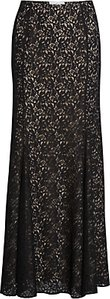 Read more about Gina bacconi lace fishtail maxi skirt black