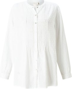 Read more about East pintuck dobby blouse white