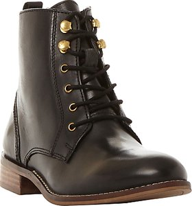 Read more about Dune quincey lace up ankle boots black leather