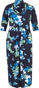 Read more about Chesca abstract floral print dress cobalt