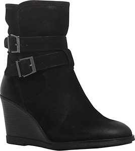 Read more about Kg by kurt geiger rhona wedge heel ankle boots black