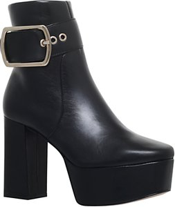 Read more about Kg by kurt geiger spritz platform block heeled ankle boots black