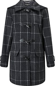 Read more about Four seasons check duffle coat charcoal black