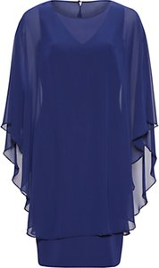 Read more about Gina bacconi beaded edge chiffon cape and crepe dress