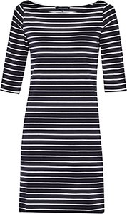 Read more about French connection eso tim tim stripe dress utility blue white