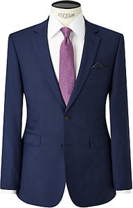 Read more about John lewis semi plain super 100s wool travel suit jacket bright blue