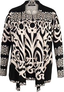 Read more about Chesca abstract print jumper black beige