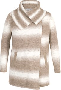 Read more about Chesca ombre knitted wrap cardigan beige ivory