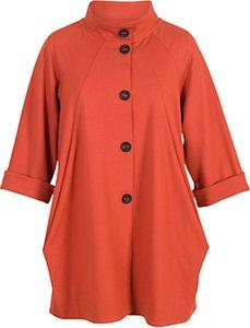 Read more about Chesca button detail coat burnt orange
