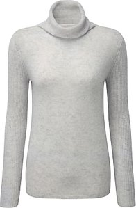 Read more about Pure collection carla cashmere polo neck jumper iced grey