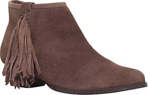 Read more about Miss kg sassy fringed ankle boots taupe