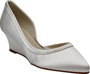 Read more about Rainbow club edna wedge heel court shoes ivory
