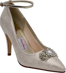 Read more about Rainbow club ceri embellished stiletto court shoes champagne