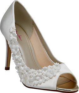 Read more about Rainbow club amelia satin stiletto heel court shoes ivory