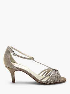 Read more about Rainbow club estelle stiletto heeled sandals metallic