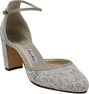 Read more about Rainbow club lavinia block heeled court shoes ivory