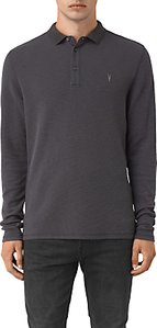 Read more about Allsaints clash long sleeve polo shirt washed black