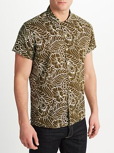 Read more about John lewis co thistle flower print short sleeve shirt khaki