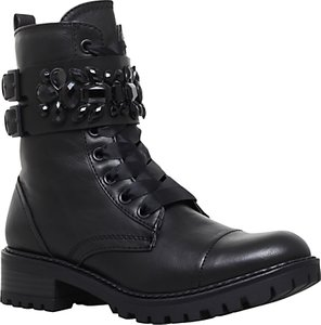 Read more about Miss kg sax embellished lace up boots black