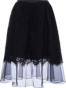 Read more about French connection spotlight lace flared skirt black