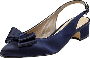 Read more about John lewis brooke bow sling back court shoes navy