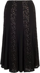 Read more about Chesca lace and jersey panel skirt black