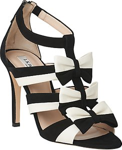 Read more about L k bennett issie bow multi strap sandals black cream