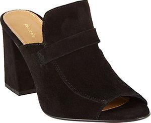 Read more about John lewis jackie block heeled mule sandals black suede