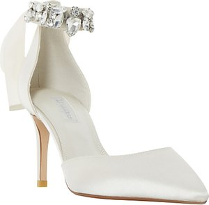 Read more about Dune bridal collection diamond embellished pointed toe court shoes ivory