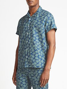 Read more about Kin by john lewis arcea print short sleeve shirt green