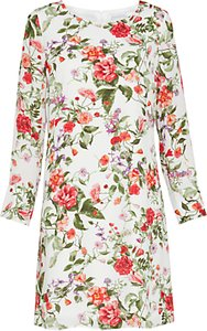 Read more about Gina bacconi summer garden long sleeve chiffon dress sage red