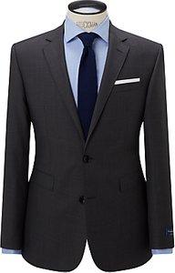 Read more about John lewis ermenegildo zegna super 160s wool semi plain half canvas tailored suit jacket grey