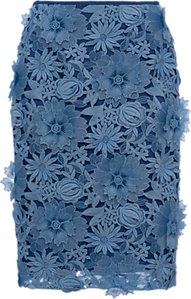Read more about French connection manzoni lace pencil skirt meru blue