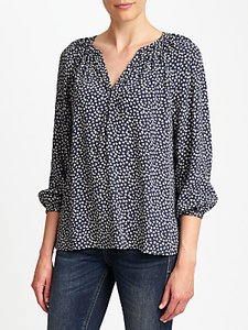 Read more about Collection weekend by john lewis lavinia sketchy hearts top navy cream