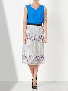 Read more about John lewis pencil pleated print skirt white