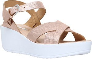 Read more about Miss kg parker wedge heeled sandals gold