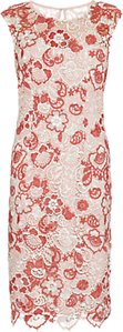 Read more about Gina bacconi tonal embroidery dress cinammon