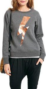 Read more about Hush lightning bolt sweatshirt mid grey marl metallic gold