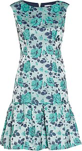 Read more about Gina bacconi floral jacquard dress mint