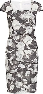 Read more about Gina bacconi 3d floral printed dress slate