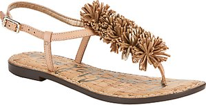 Read more about Sam edelman gates raffia pom sandals multi