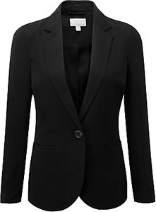 Read more about Pure collection silk linen blazer black