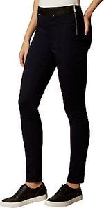 Read more about Karen millen satin denim leggings blue