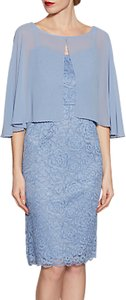 Read more about Gina bacconi corded lace dress and chiffon cape
