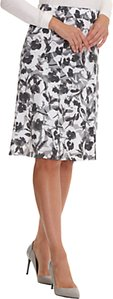 Read more about Betty barclay printed midi skirt white grey