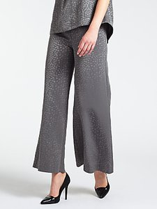 Read more about Bruce by bruce oldfield faconne wide leg trousers grey