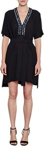 Read more about French connection karlo drape tie waist embellished dress utility blue