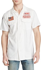 Read more about Denim supply ralph lauren short sleeve moto sport shirt white