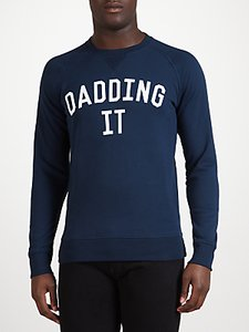 Read more about Selfish mother dadding it sweatshirt navy white