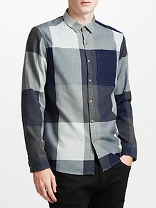 Read more about Kin by john lewis oversized check shirt navy